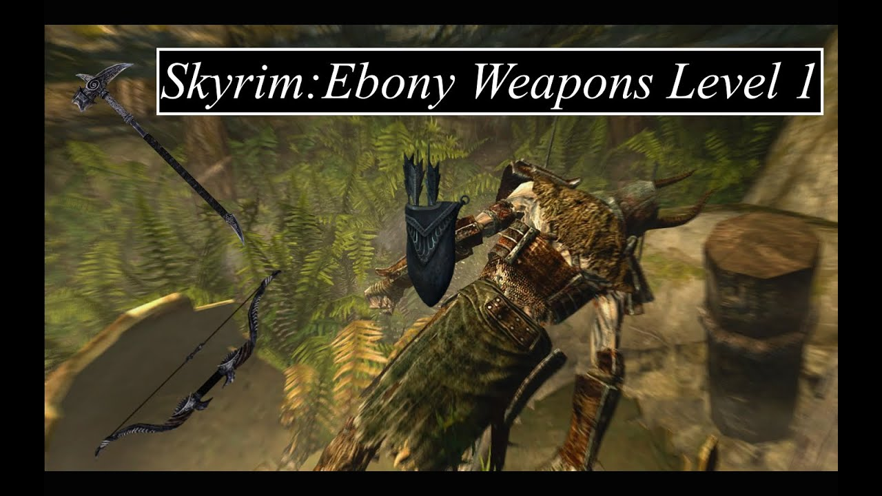 Skyrim how to get ebony sword early