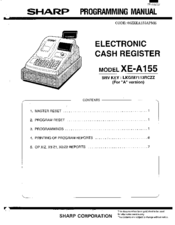 Sharp xe a21s manual pdf