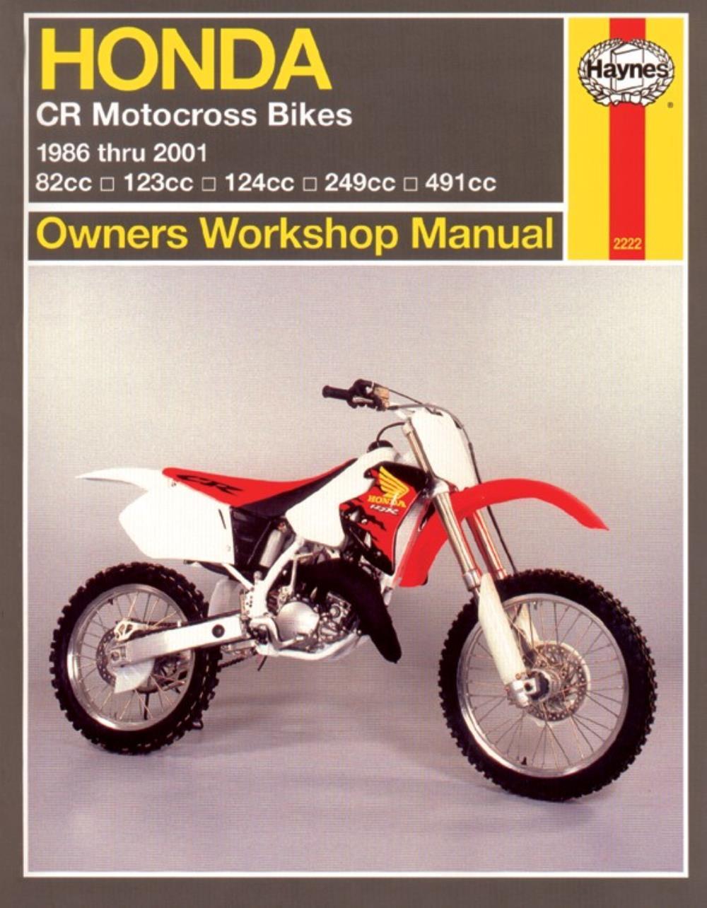 2001 honda cr250 service manual free