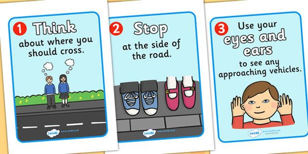 how to cross the road instructions ks1
