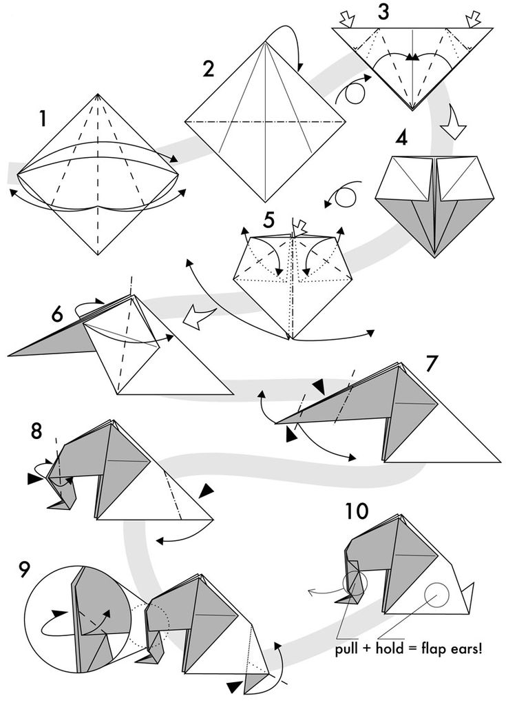 easy origami elephant instructions