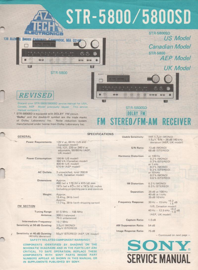 sony str-av910 service manual
