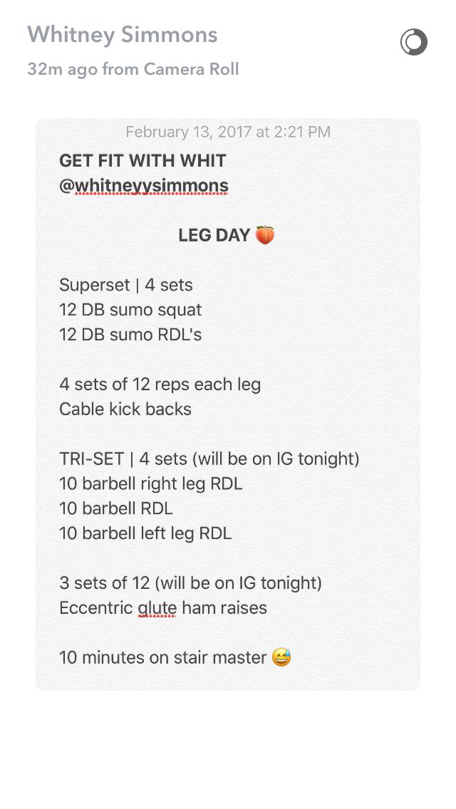 Whitney simmons workout plan pdf