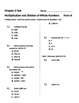 Math quiz for grade 5 pdf