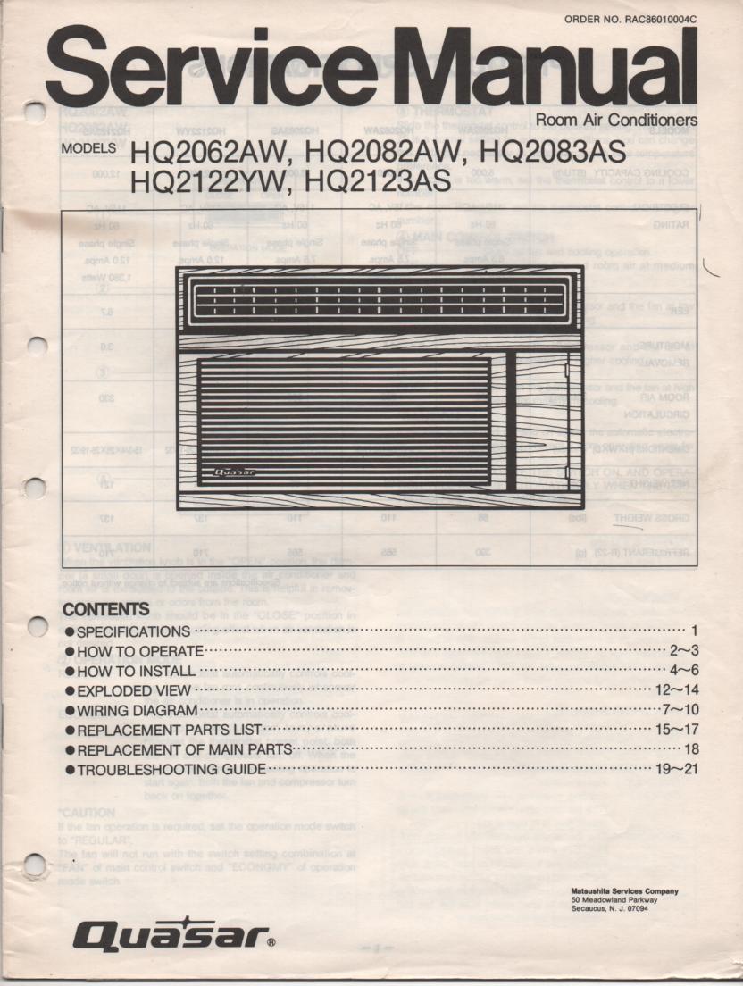 nec air conditioner instructions manual
