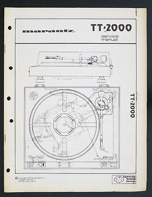 marantz tt2000 turntable service manual
