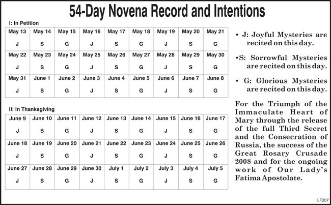 54 day rosary novena prayers pdf