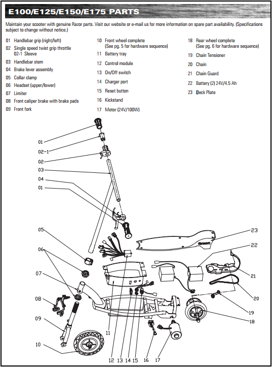 razor scooter assembly instructions
