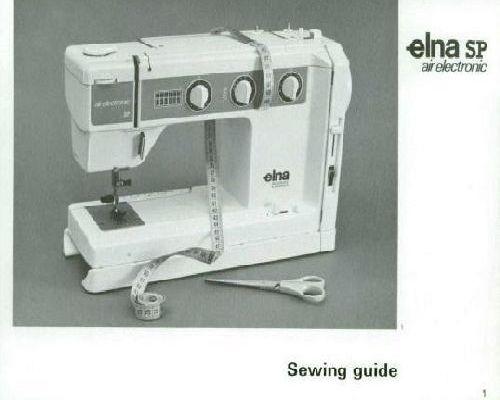 Elna 1000 sewing machine manual free download