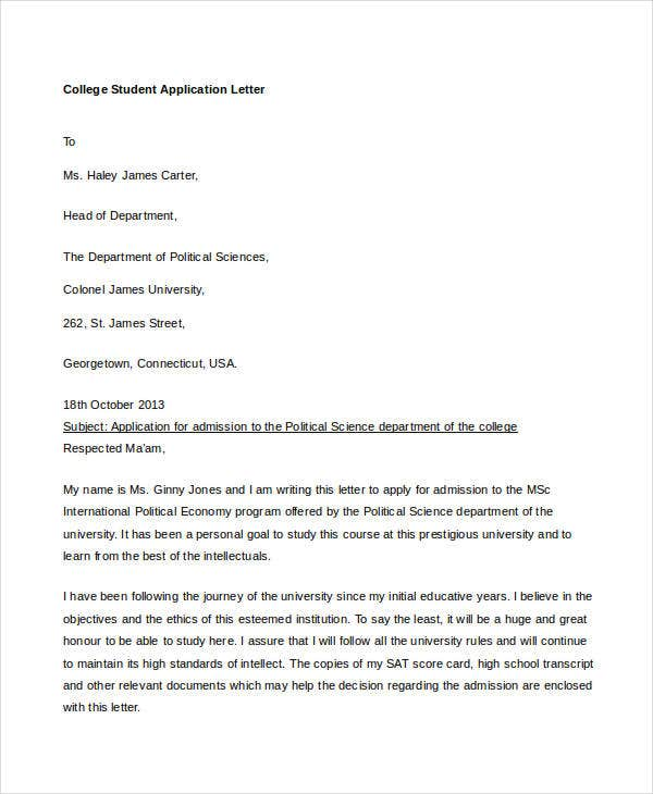 Sample letter for out of area school application
