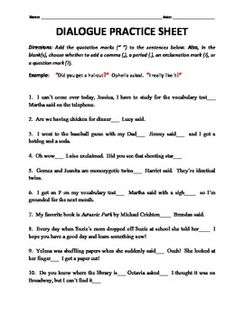 Dialogue writing in english for class 6 pdf