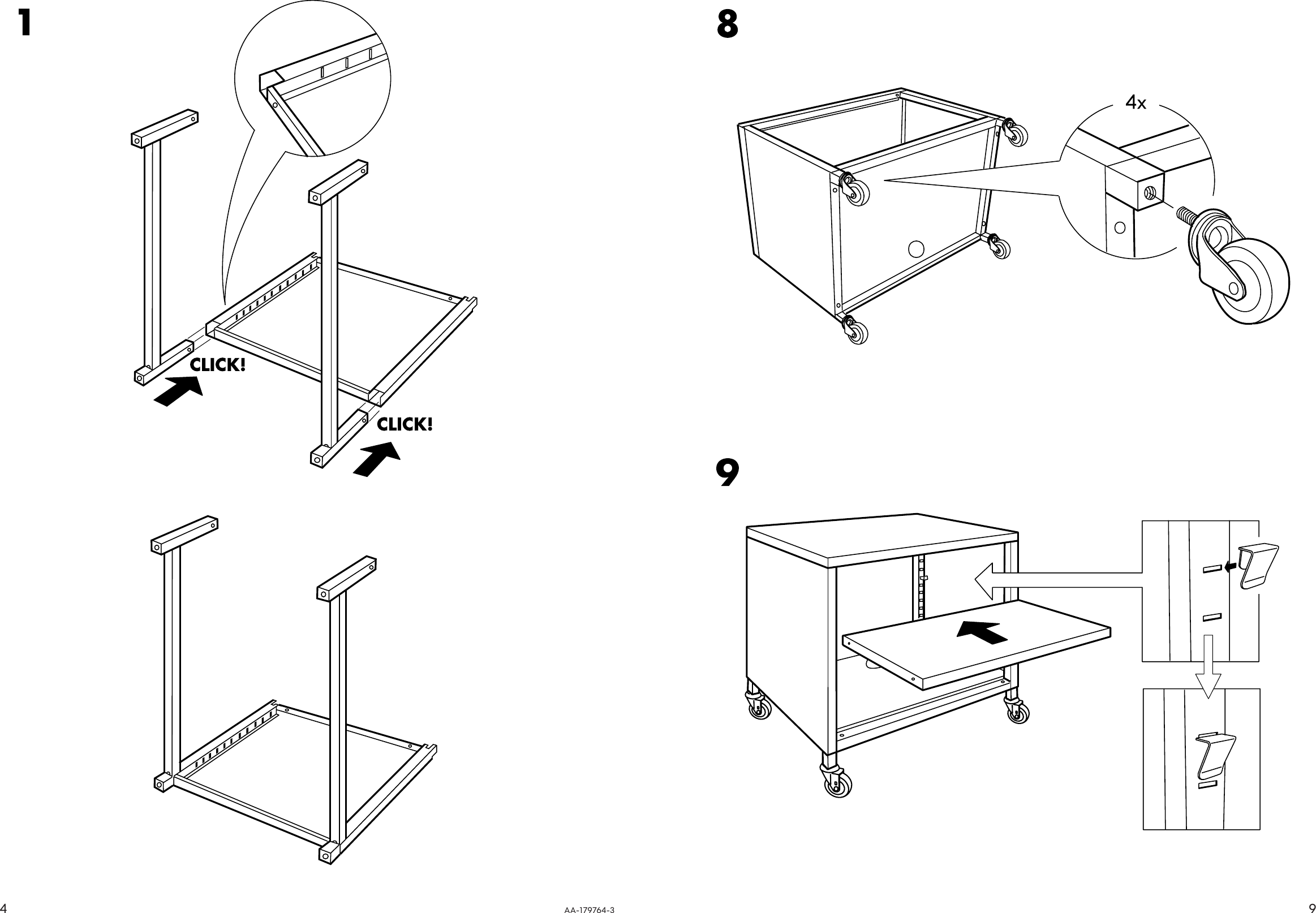 Ikea cabinet assembly instructions