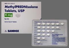 steroid dose pack instructions