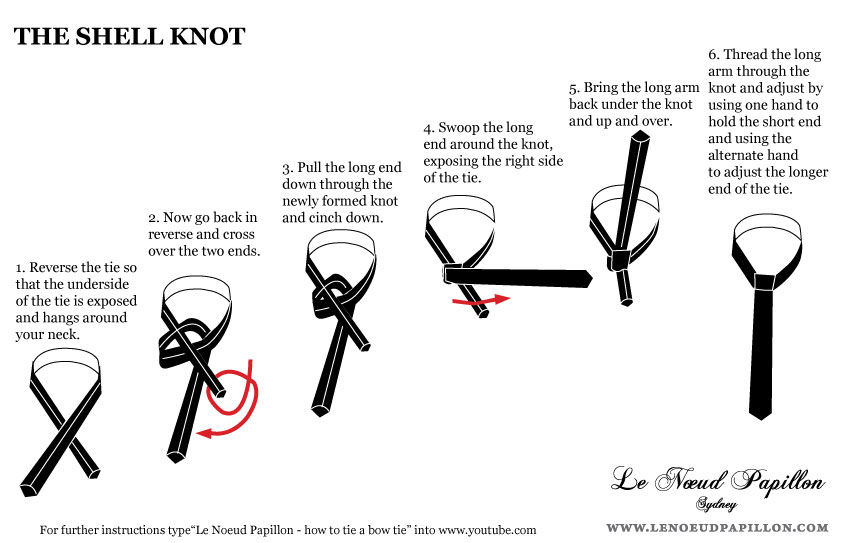 Double windsor tie knot instructions