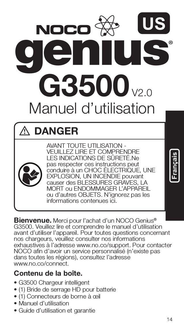 Noco genius g3500 instructions