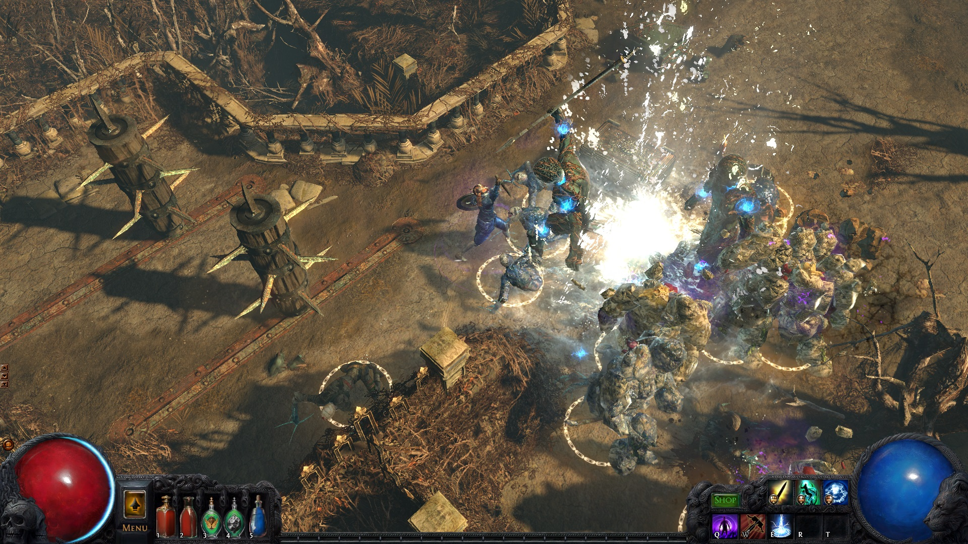 Path of exile how to get through tree roots