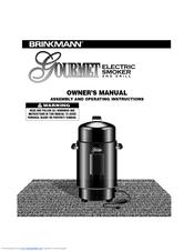 brinkmann gourmet charcoal smoker grill instructions
