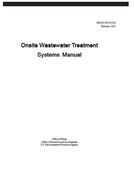 onsite wastewater treatment systems manual 2002