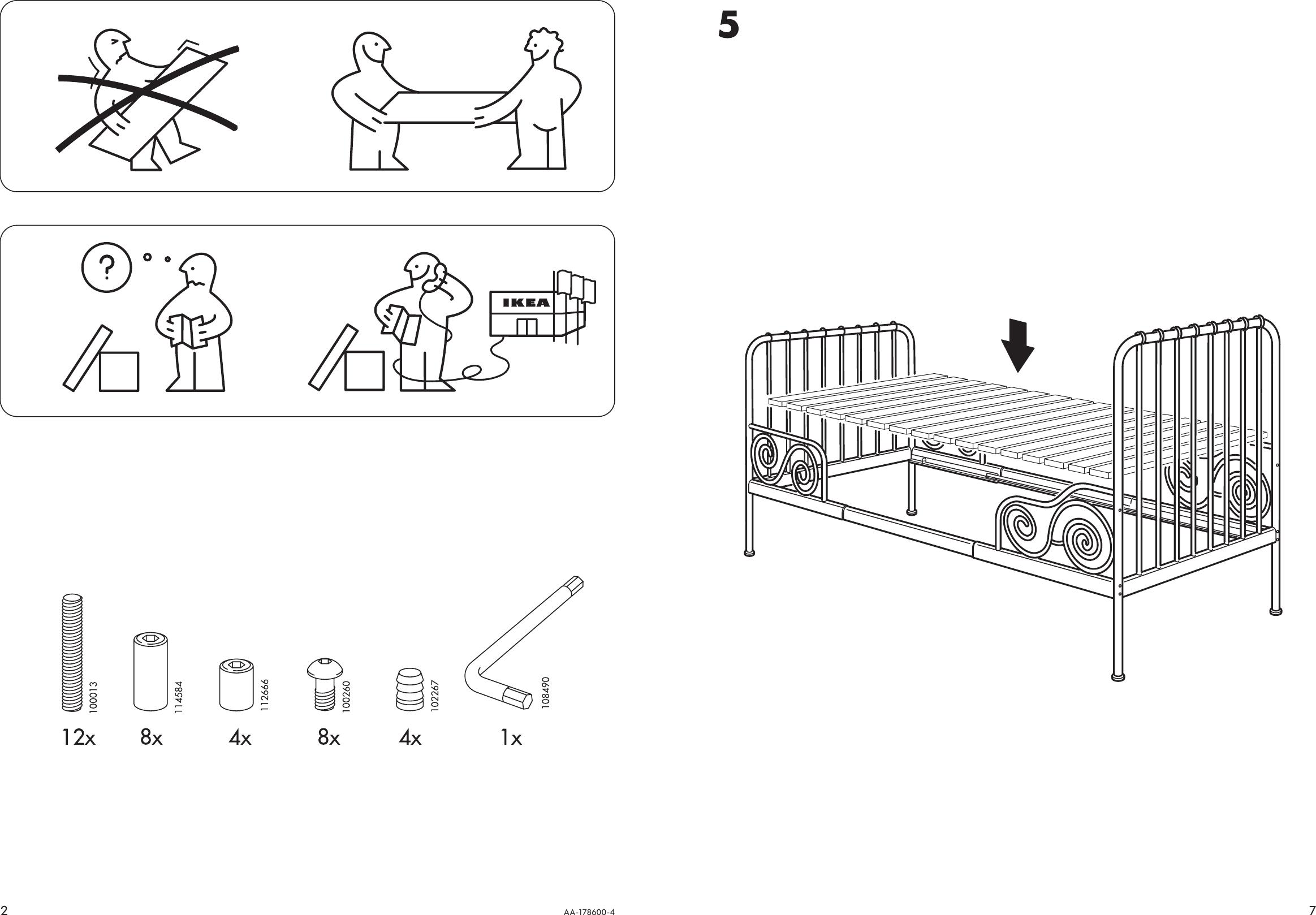 ikea minnen bed instructions