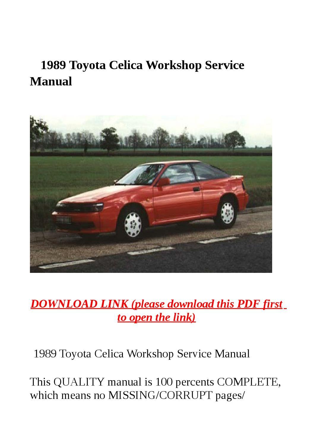 1982 toyota celica workshop manual download