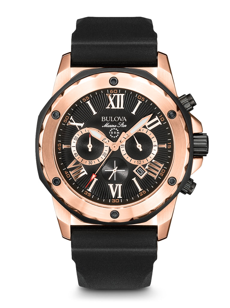 bulova marine star chronograph watch manual