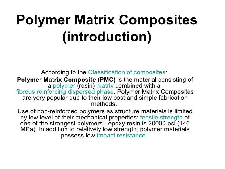 Polymer and polymer matrix composites pdf