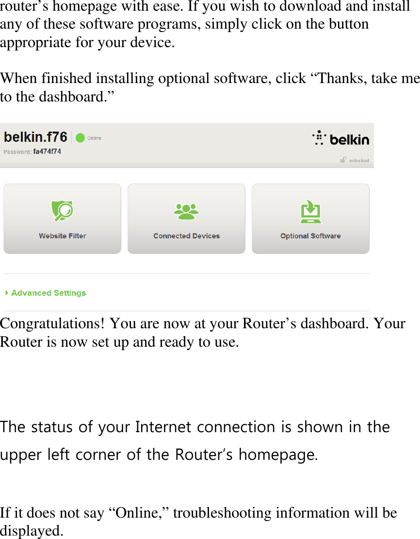 Belkin n300 wireless n router manual