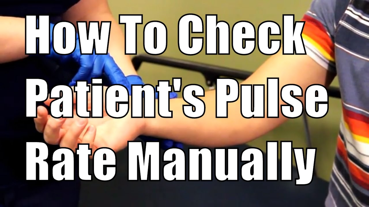 how to take pulse manually
