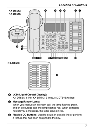Panasonic kx dt543 operating manual