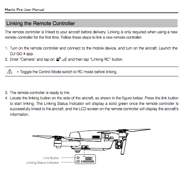 dji mavic air user manual