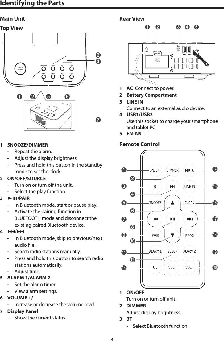 aldi projection alarm clock manual