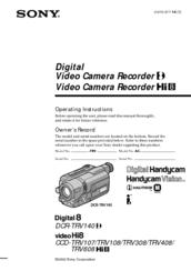 sony video hi8 handycam manual