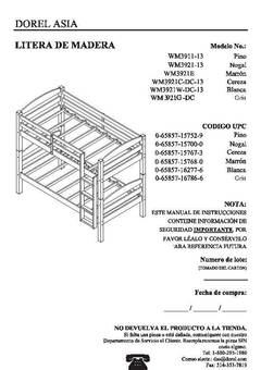 mainstays bunk bed assembly instructions