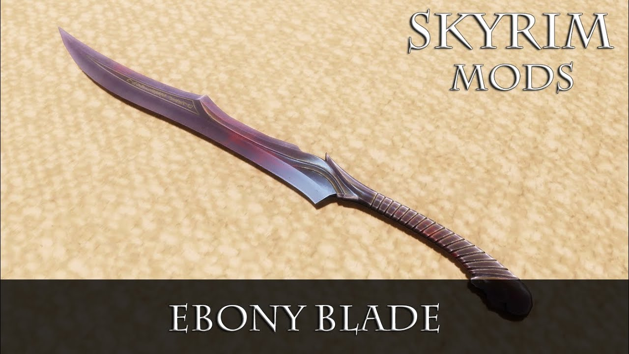 Skyrim how to get ebony sword early