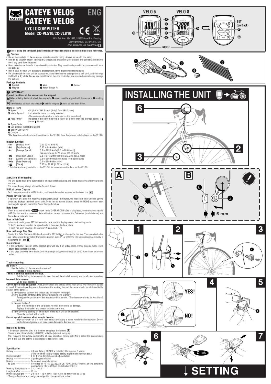 cateye velo 5 cc vl500 manual