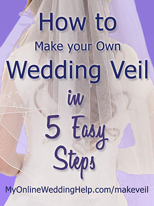 free instructions for making a bridal veil
