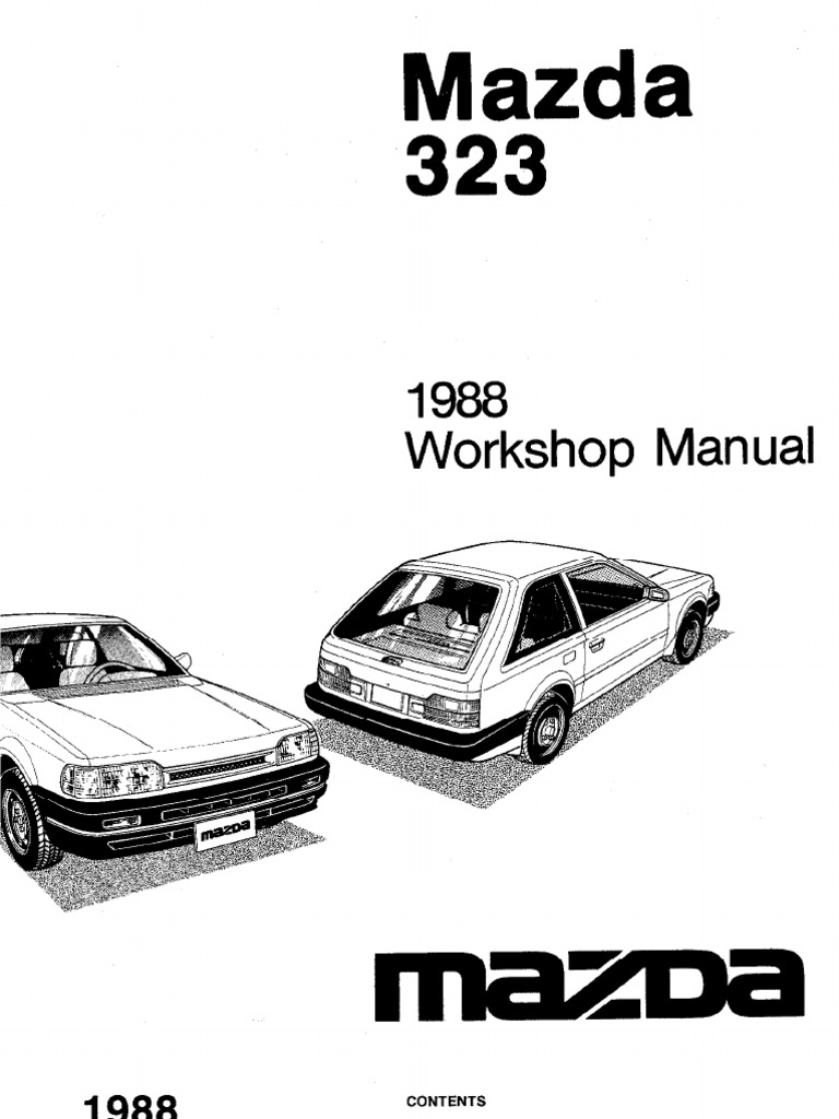 Mazda 323 astina workshop manual pdf