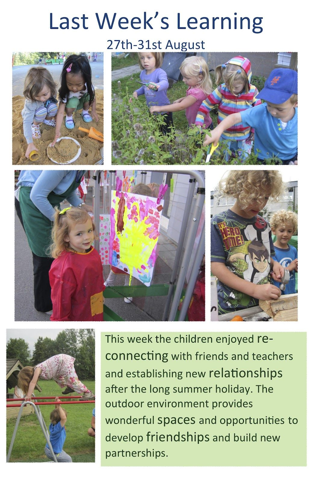 Example of outdoor experience for children