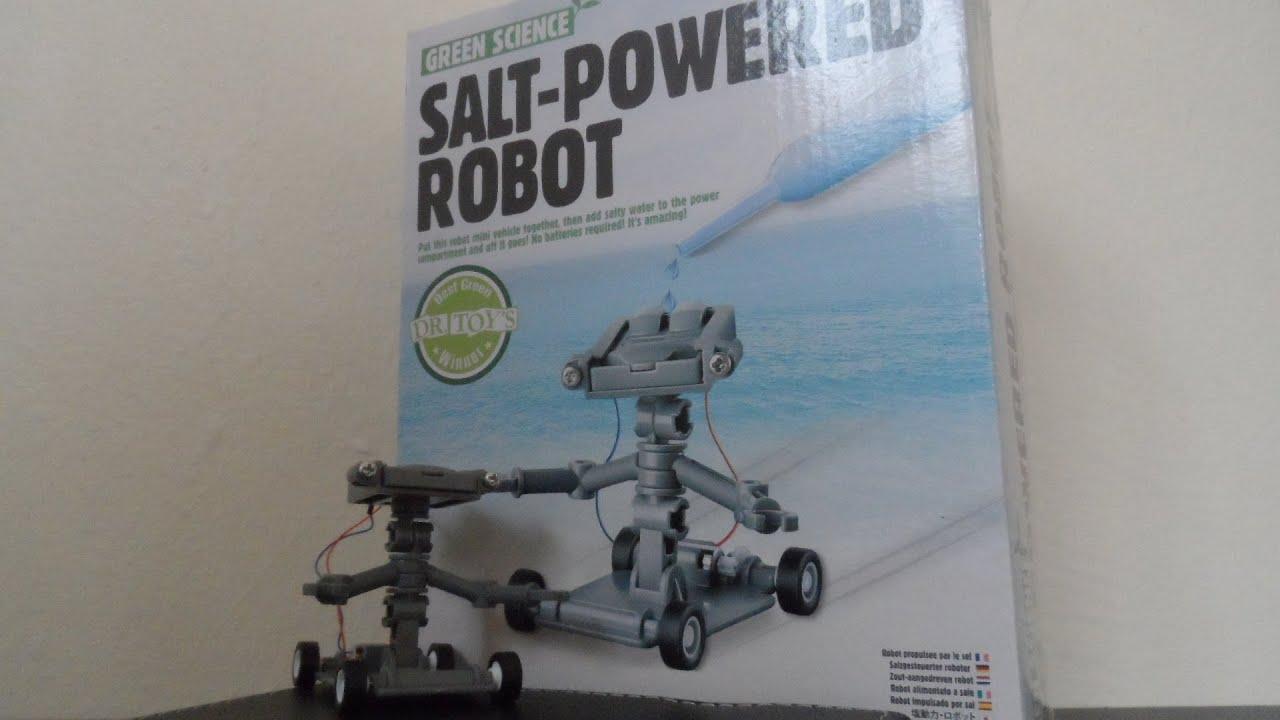 salt water powered robot instructions