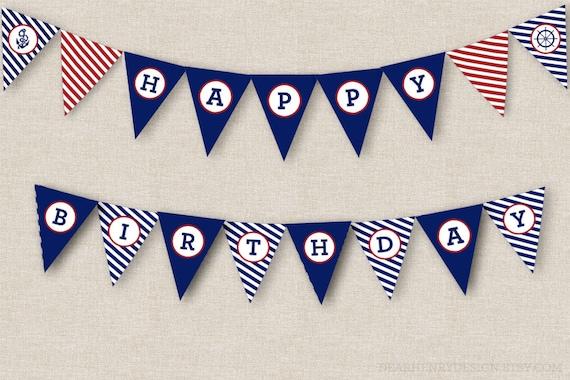 Happy birthday banner printable pdf free