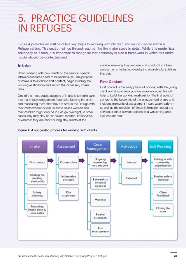 Aps guidelines for working with young people
