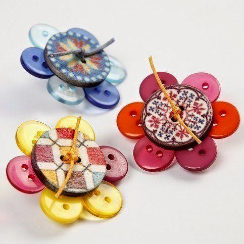 Manualidades con botones brooches vintage