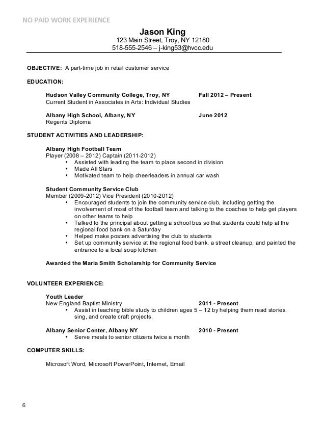 Resume how to write the date current