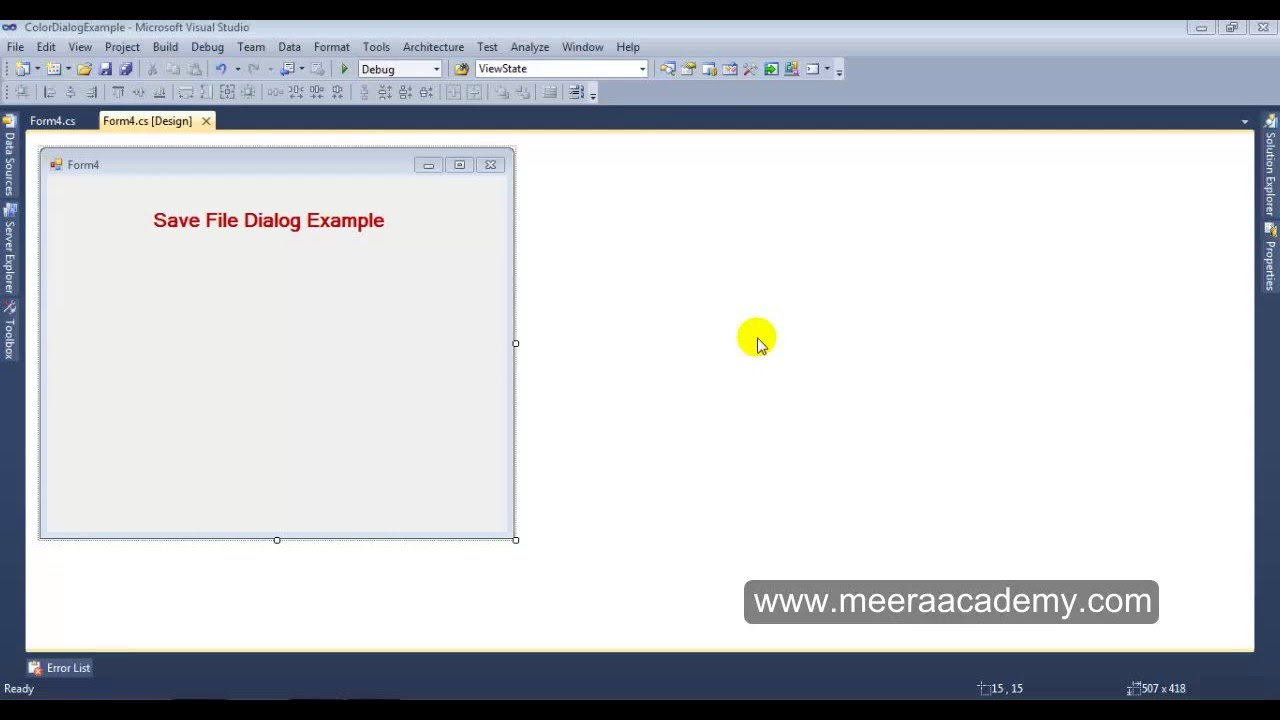 Net windows application file dialog