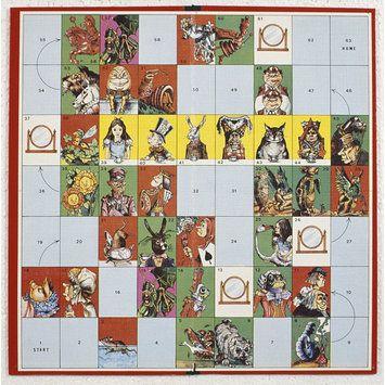alice wonderland board game instructions