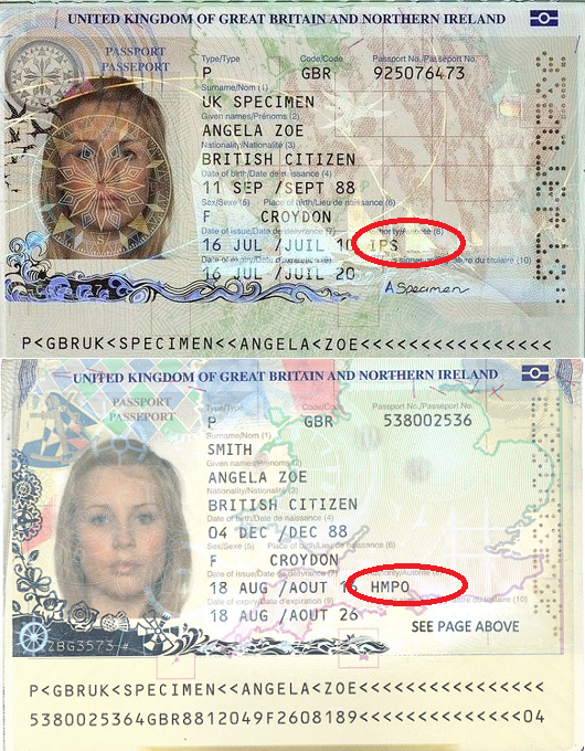 Id document issuing authority in ielts