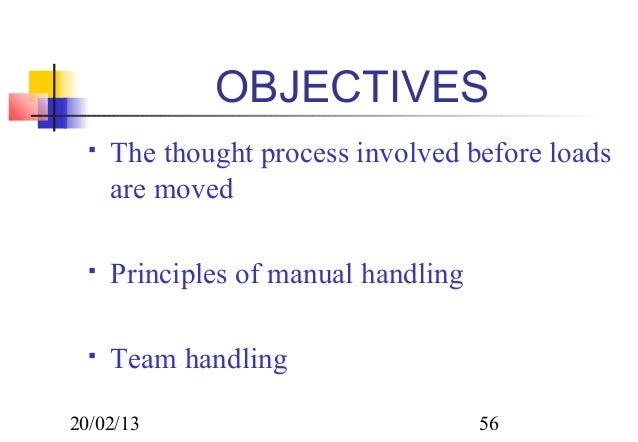 6 principles of manual handling