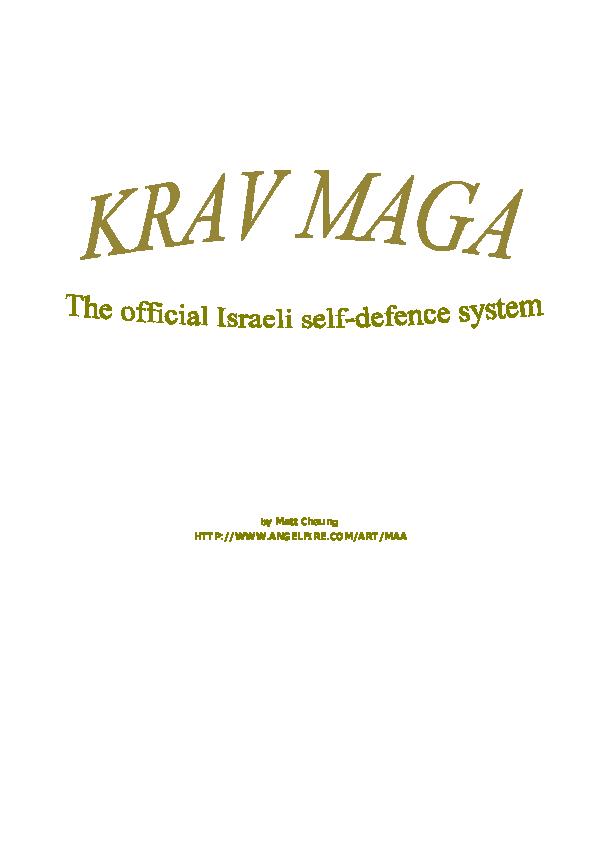 Krav maga manual pdf download