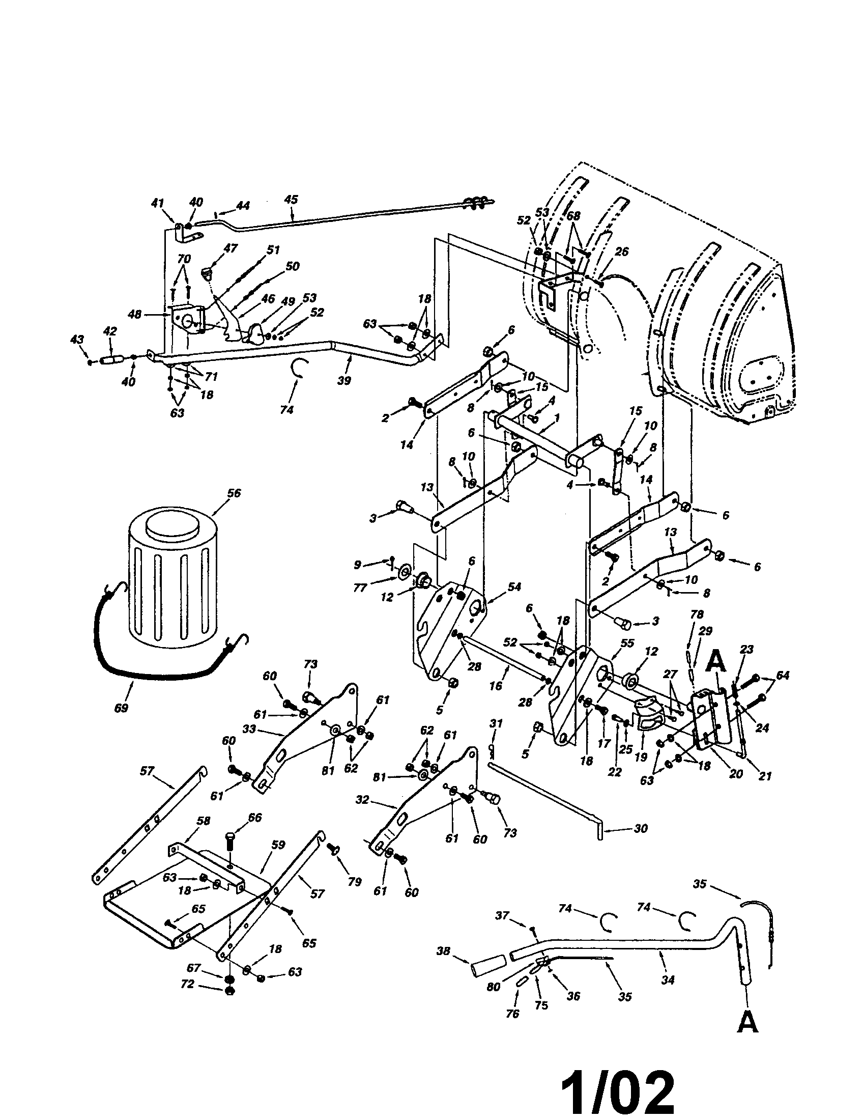 sears snow blower mocel c950-52671-8 manual