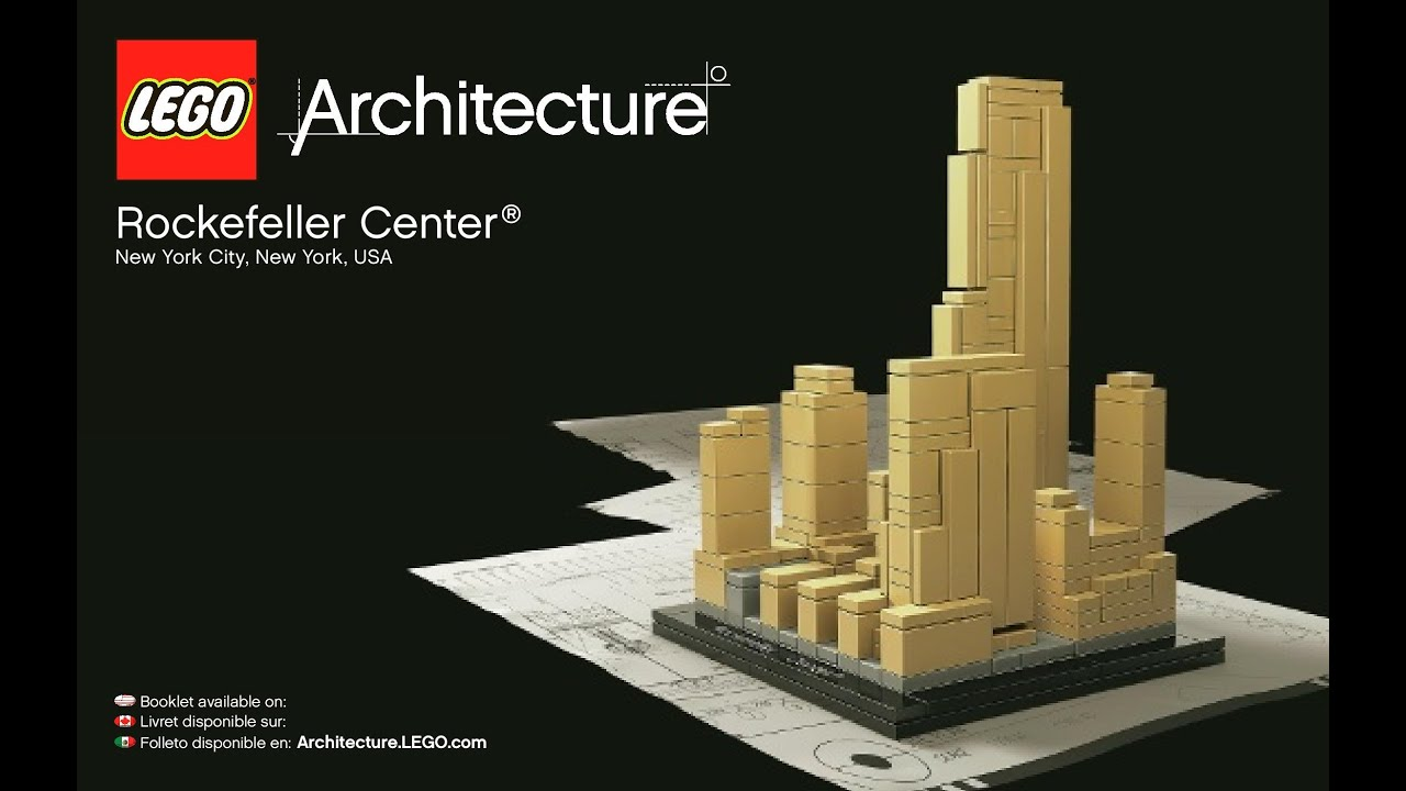 lego architecture rockefeller center instructions